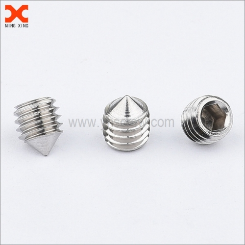custom socket head cone point set screw manufacturers