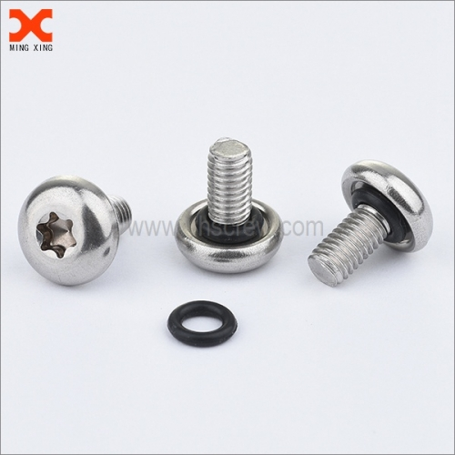 self sealing pan head torx stainless steel screws with o ring