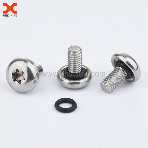 self sealing pan head torx stainless steel screws with o ring
