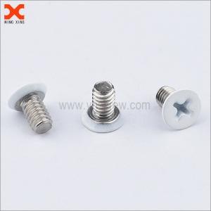 white painted cross recessed flat head machine screws