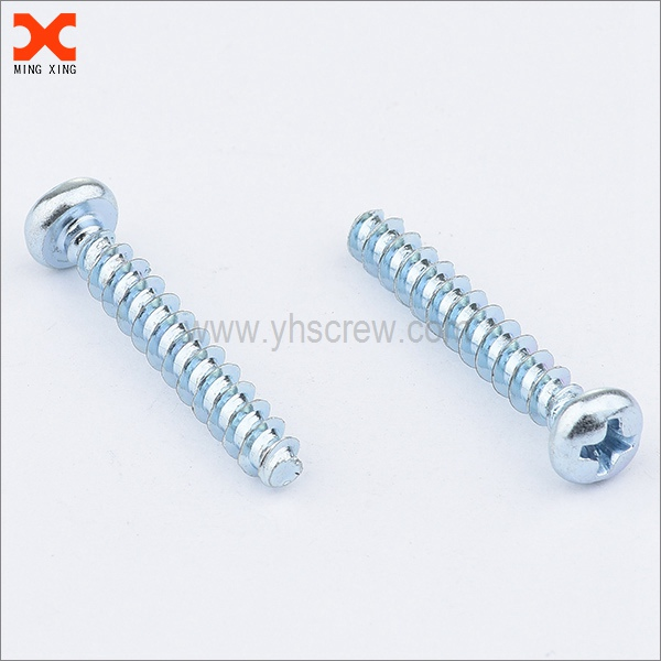 zinc plated pan head phillips trilobular thread forming screw