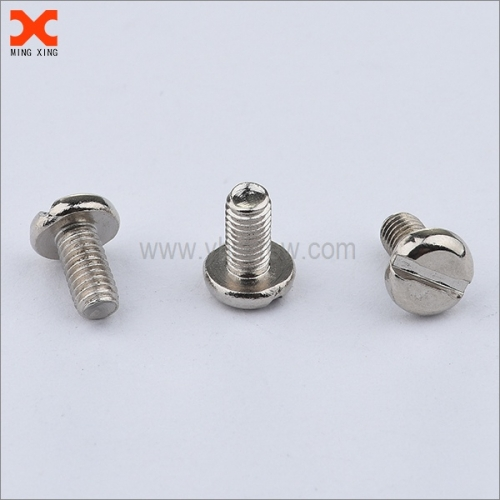 stainless steel cheese slotted head machine screw