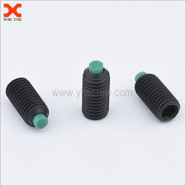 black oxide socket head dog point grub screw