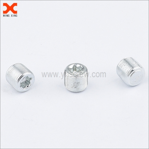 zinc plated torx drive flat point set screw manufacturers