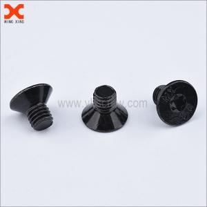 M8 black zinc plated flat head torx machine screws