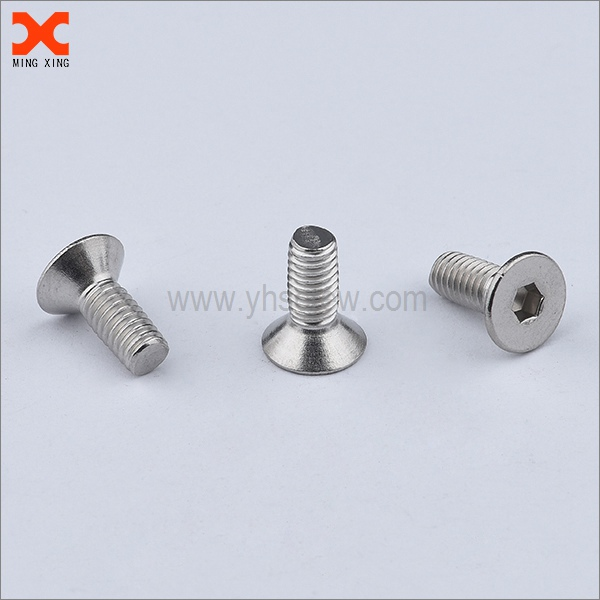 socket head stainless steel countersunk machine screws