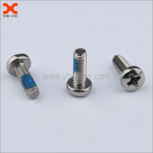zinc plated steel nylon phillips pan head machine screw