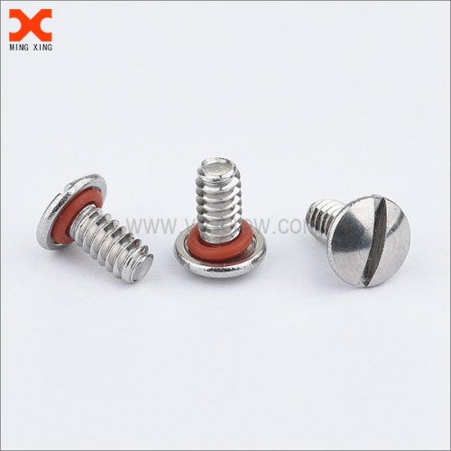truss head slotted sealing screw with o ring