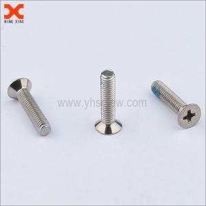nylon phillips stainless steel flat head machine screws