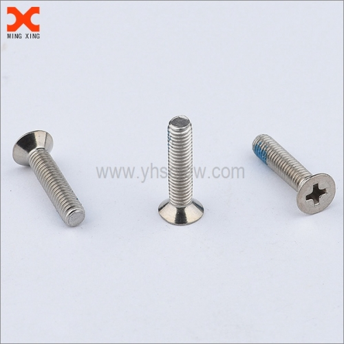 nylon phillips stainless steel flat head machine screws