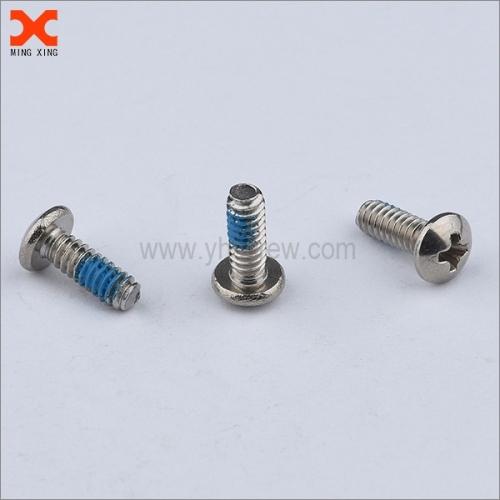 nylon 8-32 machine screw with locking patch