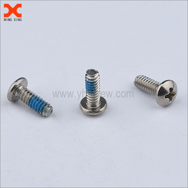 nylon 8-32 machine screw with locking patch