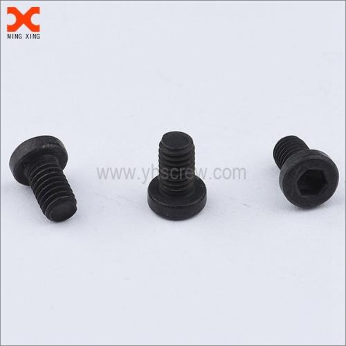 black phosphated hex socket machine screw pan head