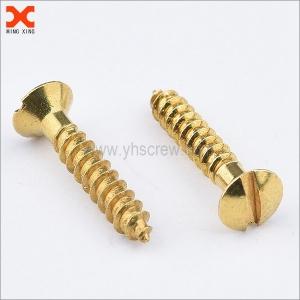 custom slotted oval head brass wood screws supplier