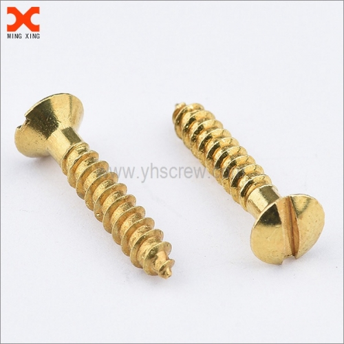 custom slotted oval head brass wood screws supplier
