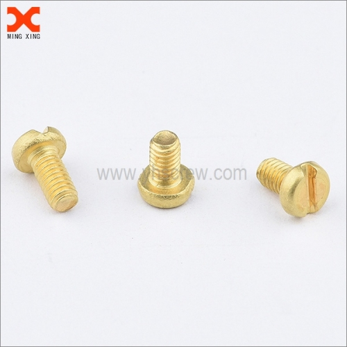 M2 slotted brass pan head screws manufacturer