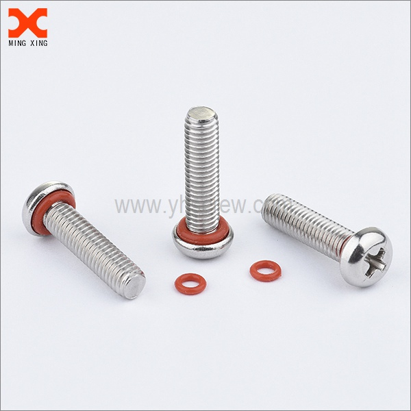phillips drive pan head self sealing bolts with o ring