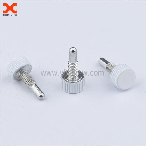 custom white painted metric knurled thumb screws wholesale