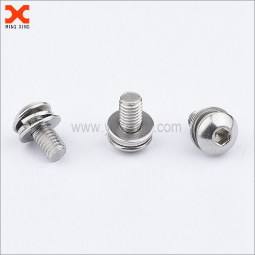 18-8 stainless steel double sems socket cap truss head screw supplier