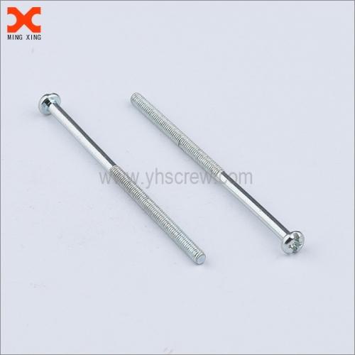 White zinc plated long captive hardware screw wholesale