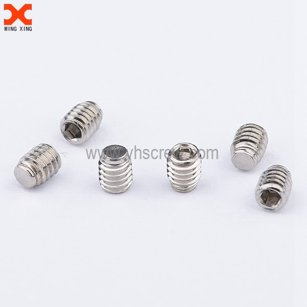 Micro socket cap flat point grub screw wholesale | Screw supplier