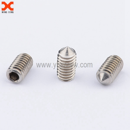 stainless steel hex socket set screw cone point