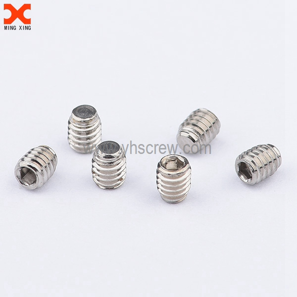Stainless steel socket flat point micro set screws supplier