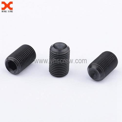 4mm black oxide socket cup point set screw supplier