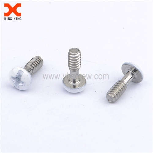 cross slotted white painted truss head screws