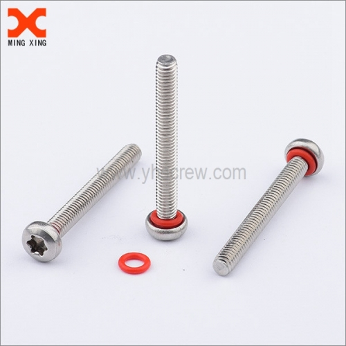Seal screw self-sealing machine screw torx drive stainless