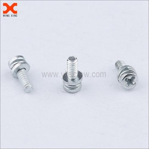 Phillips pan head split lock washer double sems screw