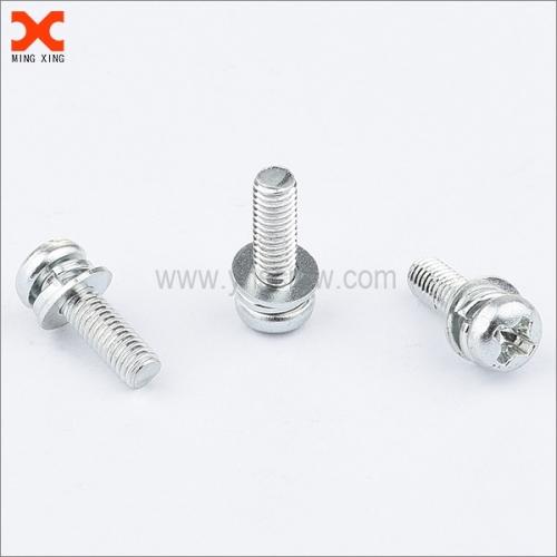 18-8 stainless steel phillips drive sems pan head machine screw