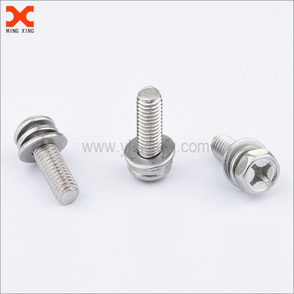 stainless steel sems phillips pan hex washer head screw