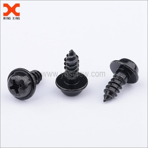 black pan washer head cross recessed self-tapping screws