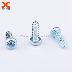 zinc plated pan pozi type ab self-tapping screws
